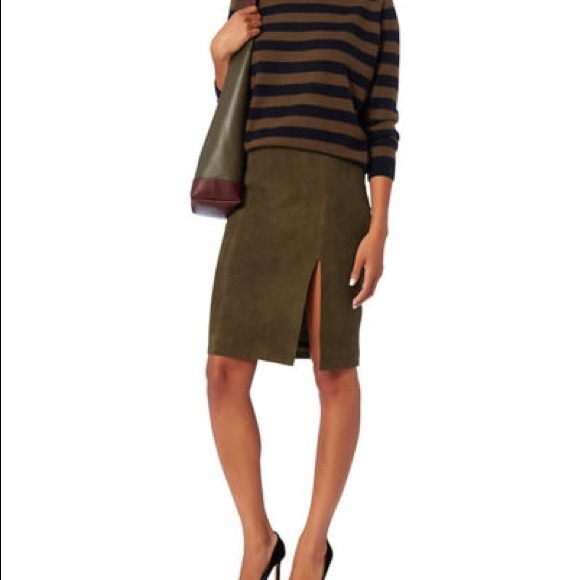 INTERMIX Dresses & Skirts - Intermix Dona Suede Skirt - Khaki